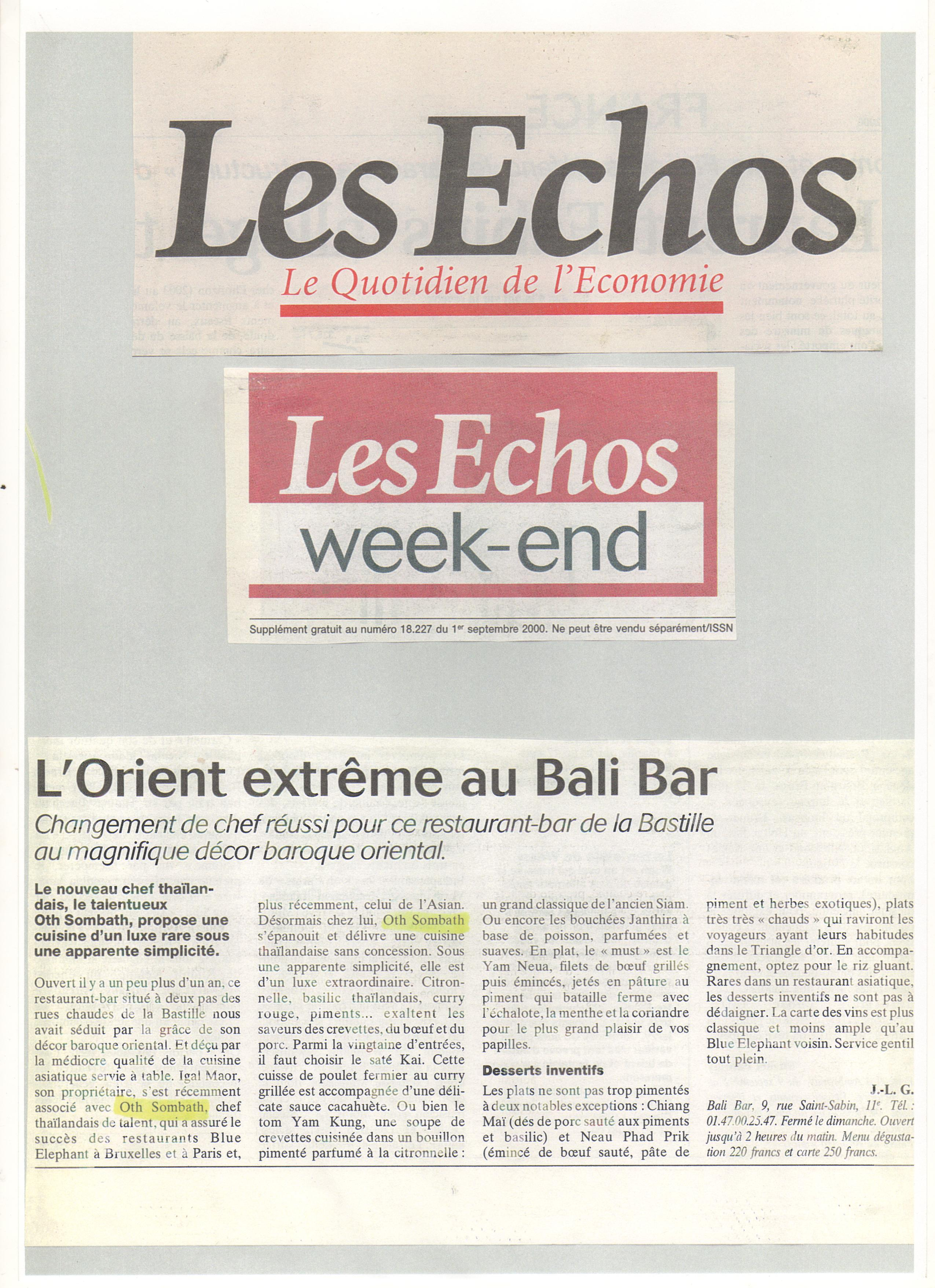 L'orient extrême au Bali Bar