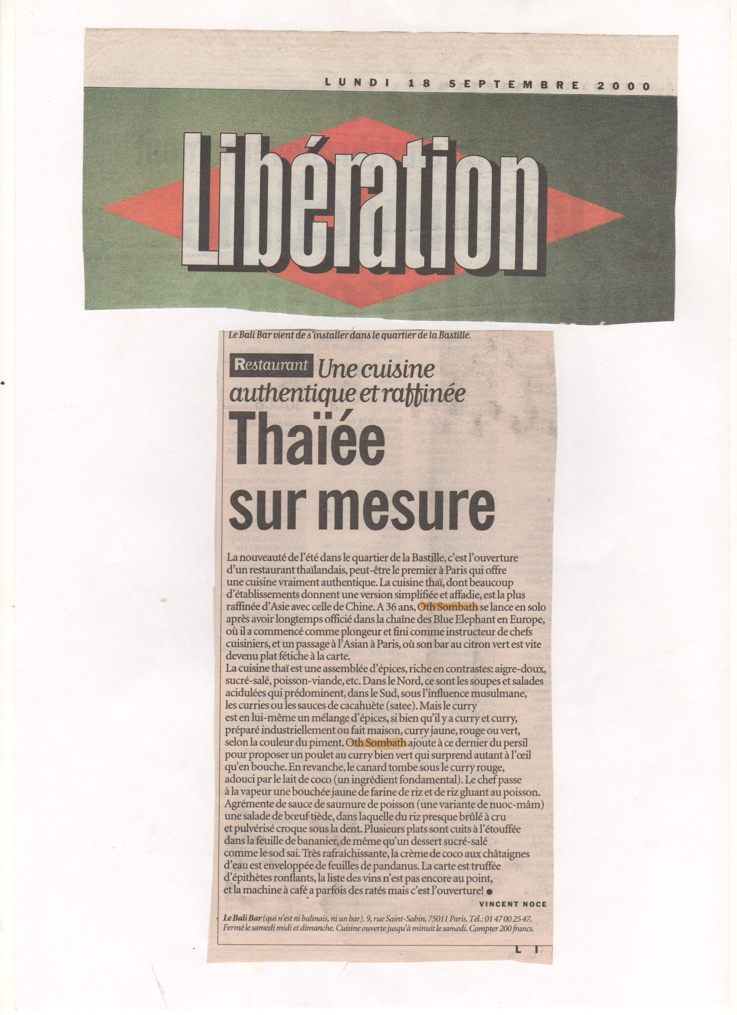 Thaïée sur mesure